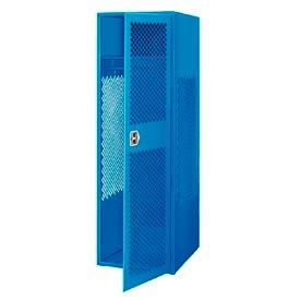 Pucel All Welded Gear Locker With Door 24x24x72 Blue