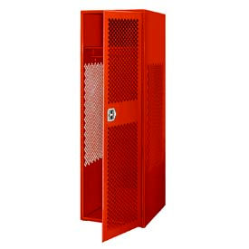 Pucel All Welded Gear Locker With Door 24x24x72 Red