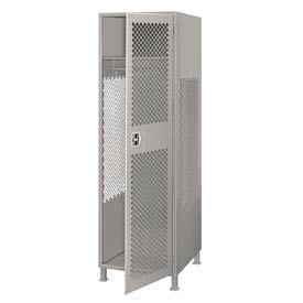 Pucel All Welded Gear Locker With Door And Legs 24x24x72 Gray