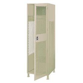 All Welded Gear Locker With Door And Legs 24x24x72 Putty