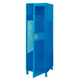 Pucel All Welded Gear Locker With Door And Legs 24x24x72 Blue
