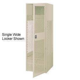 All Welded 3 Wide Gear Locker With Door Foot Locker 24x24x72 Putty