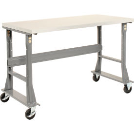 "48""W x 30""D Mobile Workbench - ESD Square Edge - Gray"