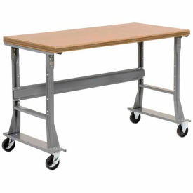 "60""W x 30""D Mobile Workbench - Shop Top Safety Edge - Gray"