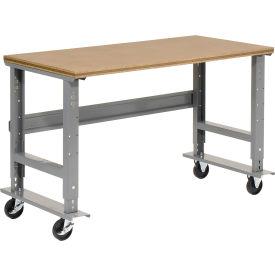 "48""W x 30""D Mobile Workbench - Shop Top Square Edge - Gray"
