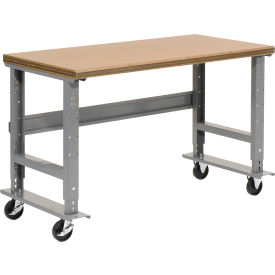 "60""W x 30""D Mobile Workbench - Shop Top Safety Edge - Gray"