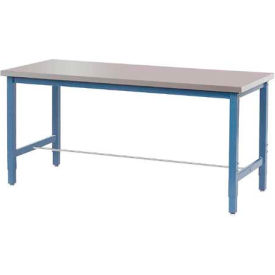 "72""W x 30""D Lab Bench - Stainless Steel Square Edge - Blue"