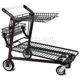 VersaCart® Retractable Tray Top Shelf Lawn & Garden Shopping Cart Dark Gray
