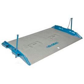 Bluff® 15T7248 HD Steel Dock Board with Lock Pins 72 x 48 15,000 Lb. Cap.