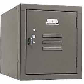 Penco 6157V028 Vanguard One High Box Locker 12x12x13-5/8 Unassembled Gray
