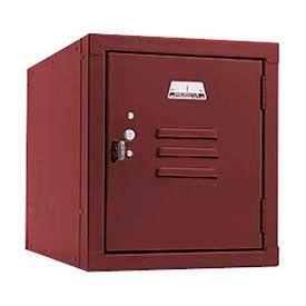 Penco 6157V736 Vanguard One High Box Locker 12x12x13-5/8 Unassembled Burgundy