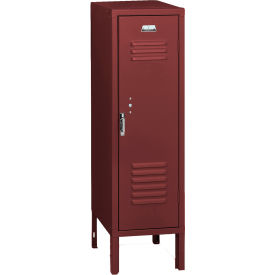 Penco 6127V736 Vanguard Half Height Locker 1 Wide 12x15x36-1/2 Unassembled Burgundy