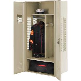 Penco 6KGDA30073 Patriot Gear Locker 42x24x72 Ready To Assemble Champagne