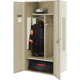 Penco 6KGDA40073 Patriot Gear Locker 48x24x72 Ready To Assemble Champagne