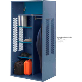 Penco 6KTDA30806 Patriot Turnout Locker 42x24x72 Ready To Assemble Marine Blue
