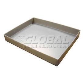 Rotationally Molded Plastic Tray 19-1/2x15-1/4x2-1/2 Gray