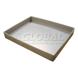 Rotationally Molded Plastic Tray 21-1/2x17x1-1/2 Gray