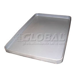 Rotationally Molded Plastic Tray 38 x 26 x 2-1/2 Gray