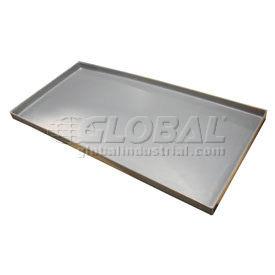 Rotationally Molded Plastic Tray 49-1/4 x 23-1/2 x 1-1/2 Gray