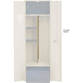Penco 6CPX270C073 Center Partition For Patriot Locker with Bottom Shelf, 15Dx45H Champagne