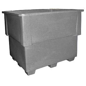 Bayhead IND-1-GRAY Nesting Pallet Container 52x42x42 1200 Lb Cap. Gray