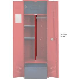 Penco 6CPX270C722 Center Partition For Patriot Locker with Bottom Shelf, 15Dx45H Patriot Red