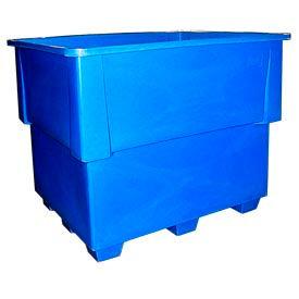 Bayhead IND-1-BLUE Nesting Pallet Container 52x42x42 1200 Lb Cap. Blue