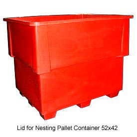 Bayhead IND-LID-RED Lid For Nesting Pallet Container 52x42 Red