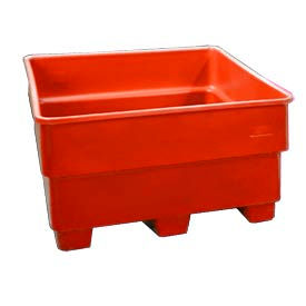 Bayhead SNP-24-RED Nesting Pallet Container 43x43x24 600 Lb Cap. Red