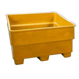 Bayhead SNP-24-YELLOW Nesting Pallet Container 43x43x24 600 Lb Cap. Yellow