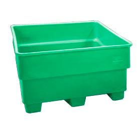 Bayhead SNP-24-GREEN Nesting Pallet Container 43x43x24 600 Lb Cap. Green