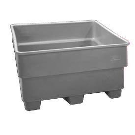 Bayhead SNP-33-GRAY Nesting Pallet Container 43x43x33 1000 Lb Cap. Gray