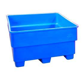 Bayhead SNP-44-BLUE Nesting Pallet Container 43x43x44 1200 Lb Cap. Blue