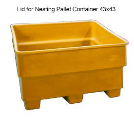 Bayhead SNP-LID-YELLOW Lid For Nesting Pallet Container 43x43 Yellow