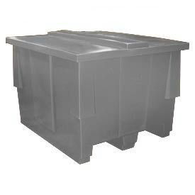 Bayhead SNP-5042-GRAY Nesting Pallet Container with Lid 50x42x33 1000 Lb Cap. Gray