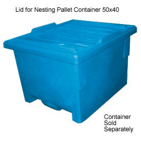 Bayhead KP-LID-BLUE Lid For Nesting Pallet Container 50x40 Blue