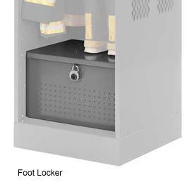 Penco 6ACXAB93H028 Patriot Locker Accessory Foot Locker 24x24x12 Gray