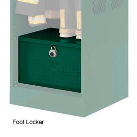 Penco 6ACXAB93H812 Foot Locker For Patriot Locker, 24x24x12 Hunter Green
