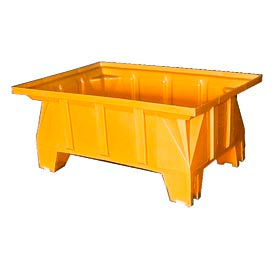 Bayhead HON-40-YELLOW Stacking Pallet Container 40x28x18 600 Lb Cap. Yellow