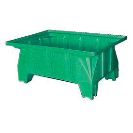 Bayhead HON-40-GREEN Stacking Pallet Container 40x28x18 600 Lb Cap. Green