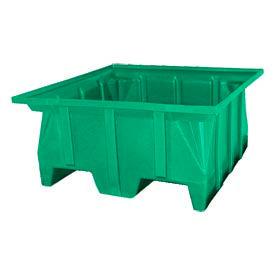 Bayhead SKA-1-GREEN Stacking Pallet Container 40x39x20 600 Lb Cap.  Green