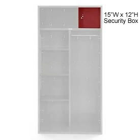 Penco 6ACXAB98H722 Patriot Locker Accessory Security Box 15Wx12H Patriot Red