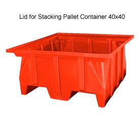 Bayhead SKA-LID-RED Lid For Stacking Pallet Container 40x40 Red