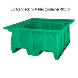 Bayhead SKA-LID-GREEN Lid For Stacking Pallet Container 40x40 Green