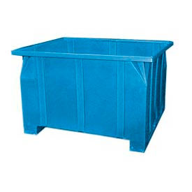 Bayhead GG-36-BLUE Stacking Pallet Container 47x42x36 1000lb Cap. Blue