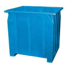 Bayhead GG-48-BLUE Stacking Pallet Container 47x42x48 1200lb Cap. Blue