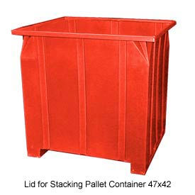Bayhead GG -LID-RED Lid For Stacking Pallet Container 47x42 Red