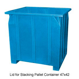 Bayhead GG -LID-BLUE Lid for Stacking Pallet Container 47x42 Blue