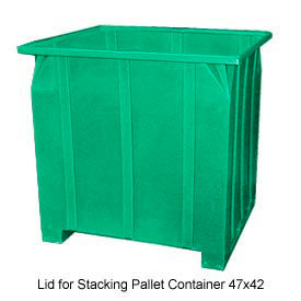 Bayhead GG -LID-GREEN Lid For Stacking Pallet Container 47x42 Green