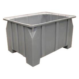 Bayhead DP-28-GRAY Stacking Pallet Container 48x36x28 1000Lb Cap. Gray